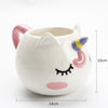 Pink Unicorn Eyelashes Mug