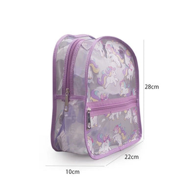 Transparent Cute Unicorn Backpack
