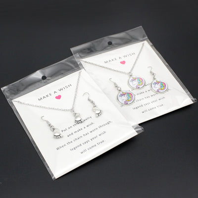 Free - Unicorn Necklace Earrings Set