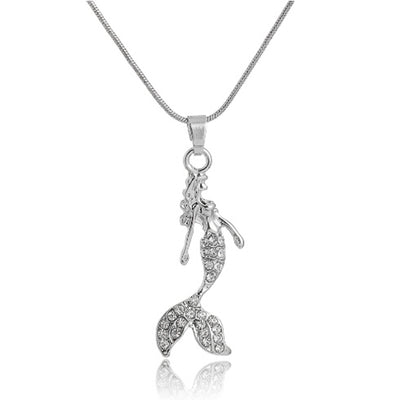 Rhinestone Mermaid Necklace