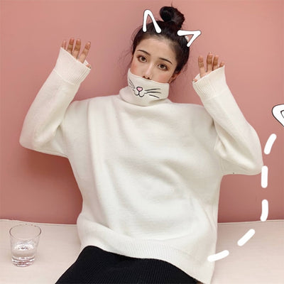 Cat Turtleneck Sweater - Well Pick Review