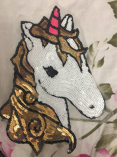 Unicorn Sequins DIY Embroidered Iron Patch