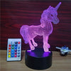 3D Unicorn Visual LED Light