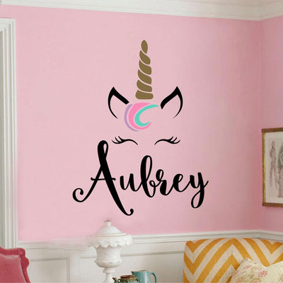 Personalized Unicorn Monogram Wall Sticker