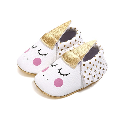 Golden Horn Unicorn Baby Shoes
