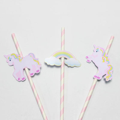 Unicorn Rainbow Straw 24PCS