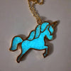 Magicorn Necklace - Unicorn Glowing In The Dark