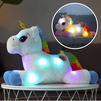 Big Fluffy Rainbow Unicorn LED Toy - Well Pick Review