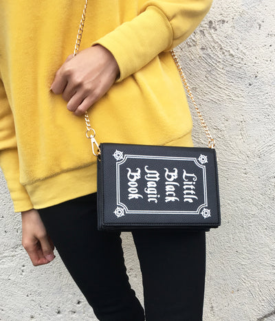 Little Black Magic Book Messenger Bag