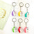 6pcs Unicorn Keychains