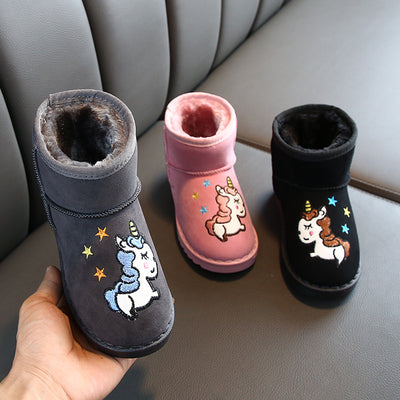 Winter Unicorn Kids Boots
