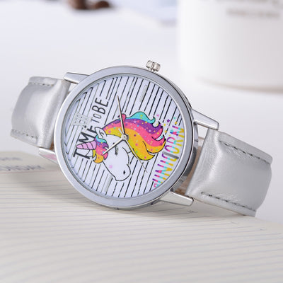 Free - Sparkling Hair Unicorn Stripes Watch