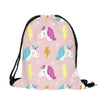 Thinking of the Unicorn Drawstring Bag