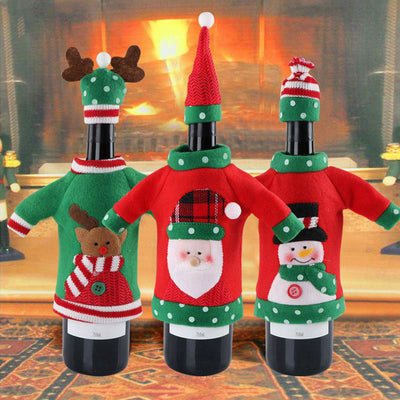 Wine Bottle Sweater Christmas Party Decor