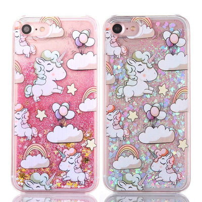 Free - Unicorn Dynamic Glitter Liquid Case