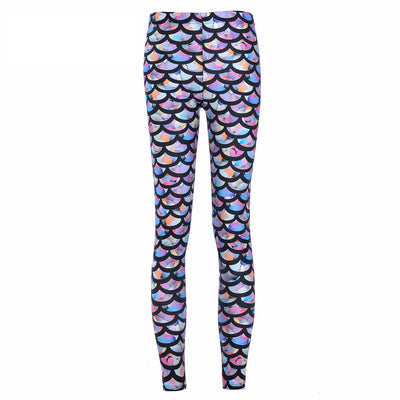 Hot Digital Printing Rainbow Mermaid Legging