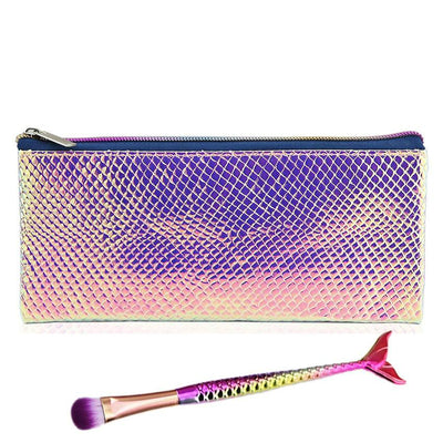 Holographic Mermaid Makeup Bag