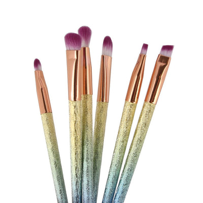 6pcs Rainbow Glitter Soft Makeup Brush Set - Well Pick Review