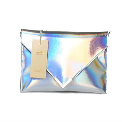 Laser Hologram Envelope Clutch Chain Bag
