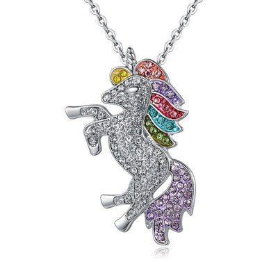 Free - Crystal Rainbow Unicorn Necklace
