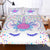 Unicorn Eyelashes™ Floral Bedding Set
