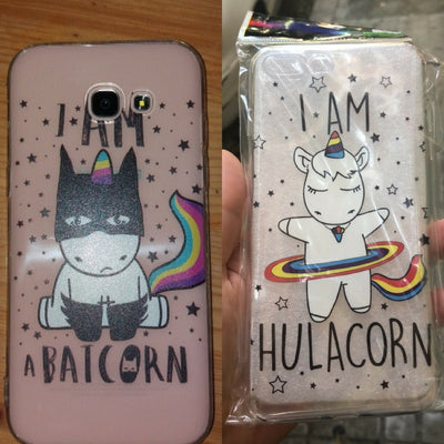 Unicorn Transparent Samsung & iPhone Case