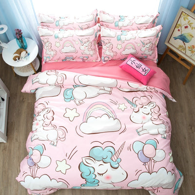 Cloud Unicorn Pink Bedding Set - Well Pick Review