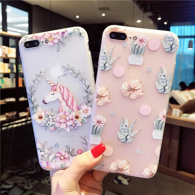 Unicorn Relief iPhone Case
