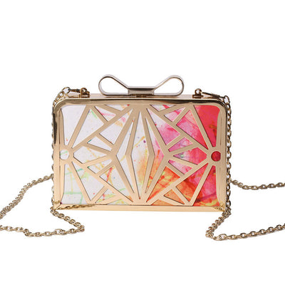 Patchwork Clutch Shoulder Bag