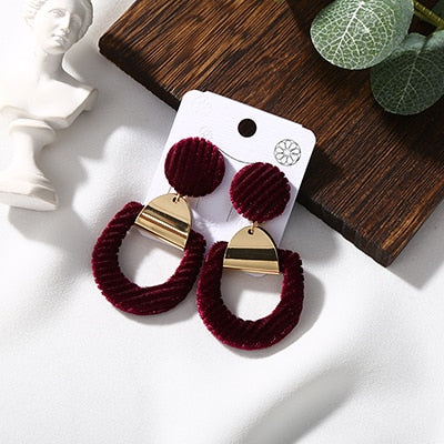 Velvet Geometry Earrings