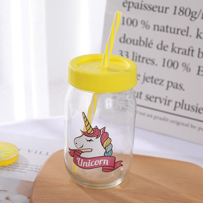 Unicorn Straw Cup With Lid