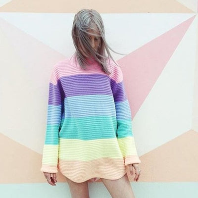 Pastel Knitted Oversize Sweater