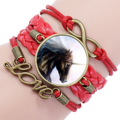 Leather Unicorn Bracelet - Collections