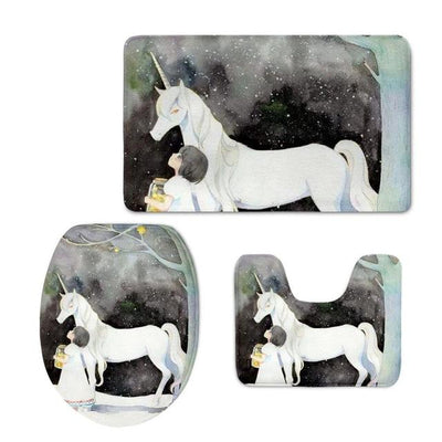 3pcs/set Unicorn Toilet Seat Cover & Rug Washroom Set - Well Pick Review