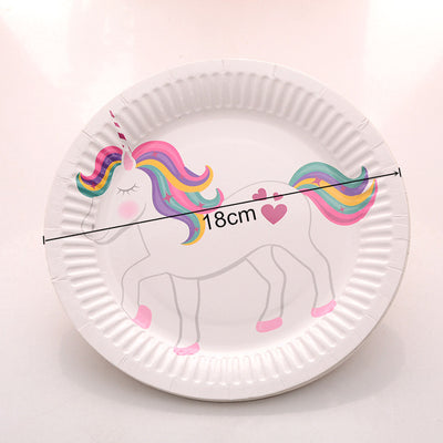 10pcs/Lot Unicorn Paper Plates & Cups Party Supplies - Well Pick Review