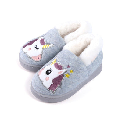 Embroidery Unicorn Baby Slippers