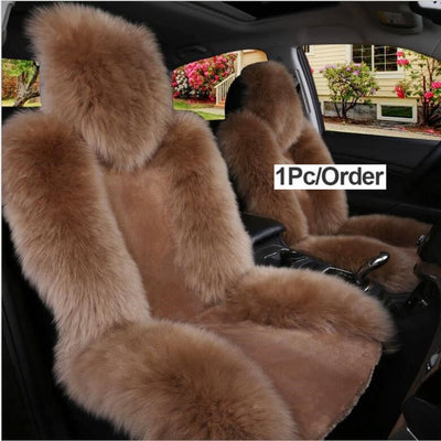 Pink Fur Car Seat Cover
