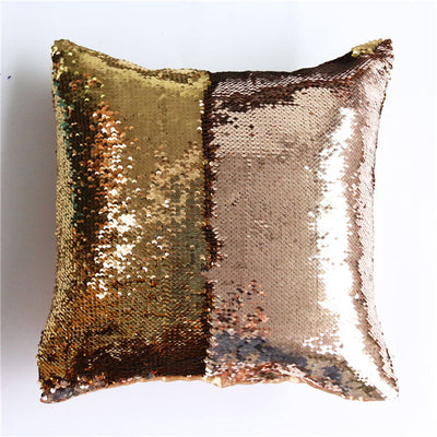Rainbow Mermaid Sequin Cushion Cover