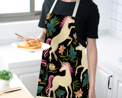 Stylish Unicorn Linen Apron