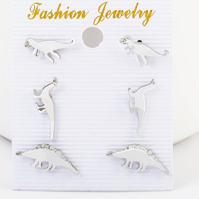 3 Pairs Dinosaur Earrings Set - Well Pick Review