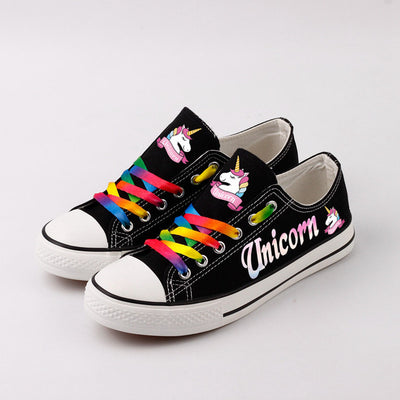 Women Colorful Unicorn Sneakers