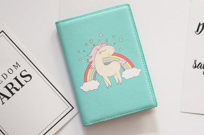 Unicorns Leather Passport Cover