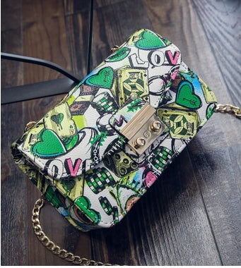 Graffiti Clutch Shoulder Bag