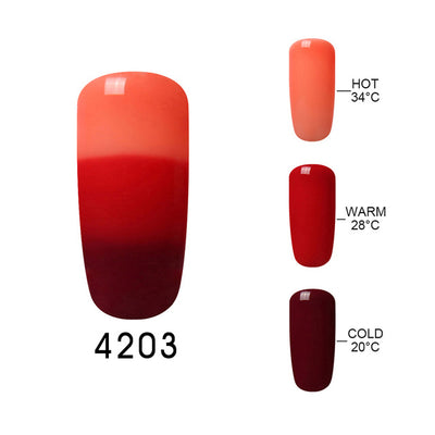 Mood Changing Color Gel Nail