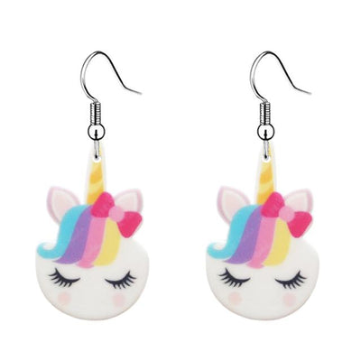 Hair Bow Unicorn Earrings