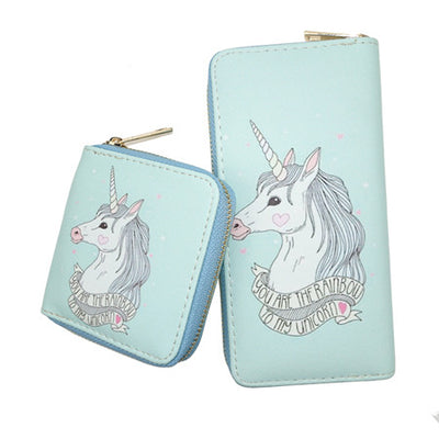 Mint Unicorn Clutch Wallet