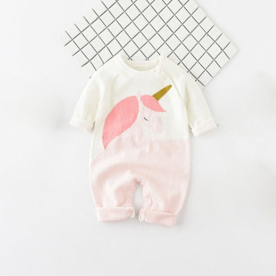 Unicorn Baby Knitted Jumpsuit