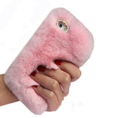 Pink Fluffy Fur Phone Case