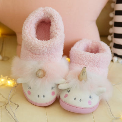 Winter Unicorn High Top Slippers