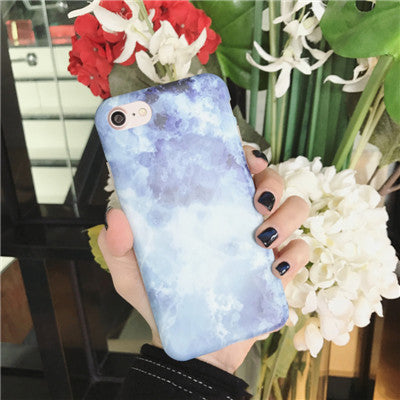 Fashion Blue Marble Soft Phone Cases - Well Pick